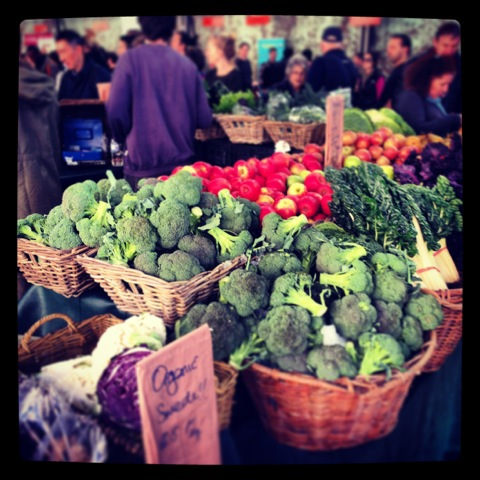 Shot from my favorite organic product stand at Eveleigh Markets - Kurrawong Organics