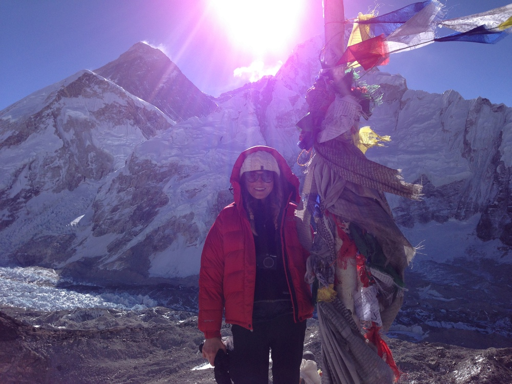 At the top of Kala Patthar (5550 meters) - as close to the Roof of the World as I could get!