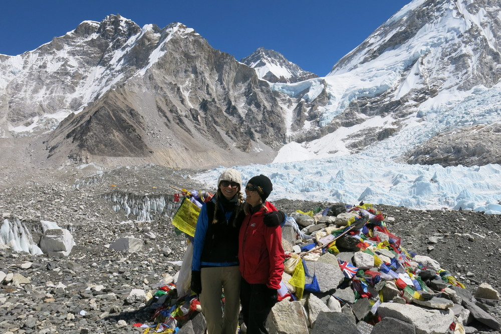 Sus and me at Everest Base Camp