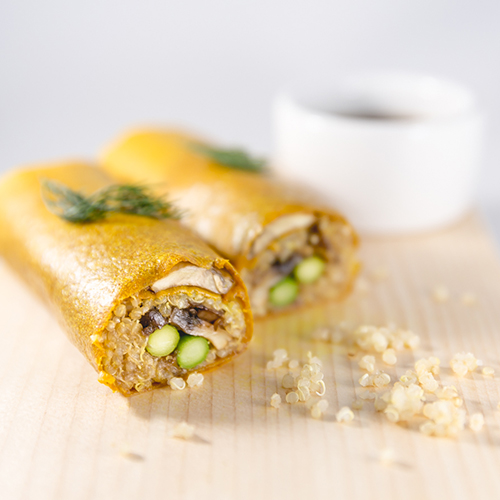 NUCO ORGANIC Coconut Wraps - Made from coconut meat, these wraps are can be used as gluten- and grain-free alternative to flour wraps and tortillas. Keep them in the pantry for a quick weekday lunch option. Roll up some smoked salmon, avocado and sprouts, or hummus, veggies and a fried egg.