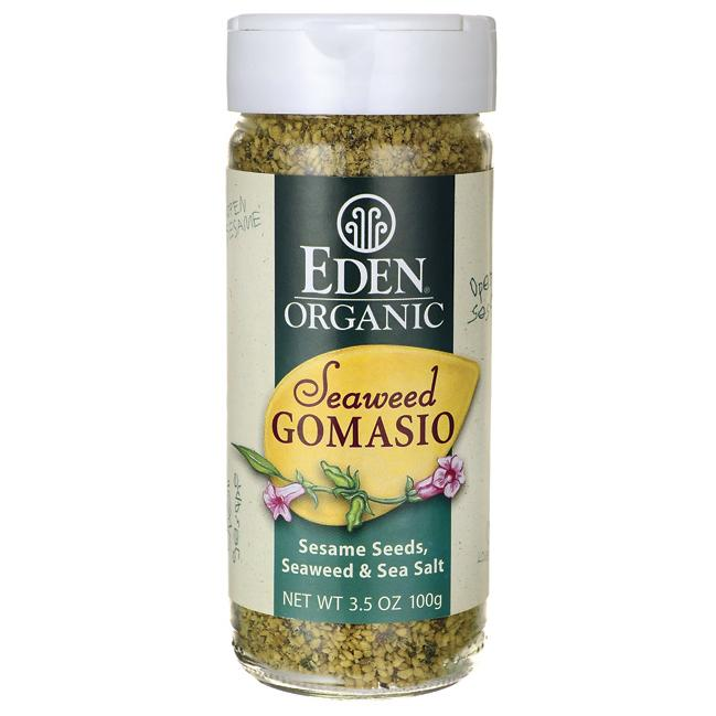 seaweed gomasio - Gomasio is a delicious Japanese seasoning made by blending dry toasted sesame seeds and salt. I love the seaweed version because it sneaks in some mineral rich sea vegetables, such as kombu, dulse and nori, into your diet. Use Gomasio on soups, salads, rice, veggies, etc. Using this seasoning daily is perfect in the second half of your cycle for my ladies practicing seed rotation!