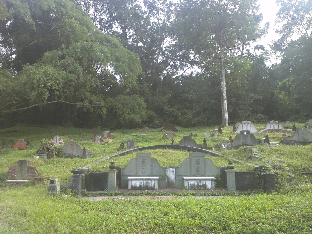 Graves at the Bukit Brown Cemetery