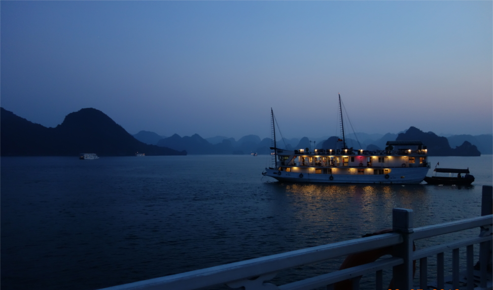 A night's stay on a boat is a must in Ha Long Bay.