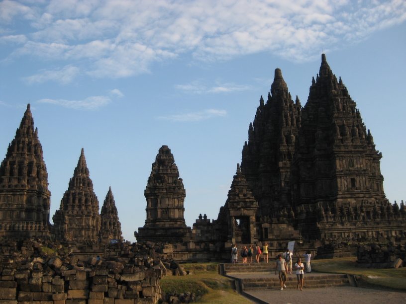 Prambanan Hindu temple complex near Yogyakarta; a 9th century UNESCO world heritage site