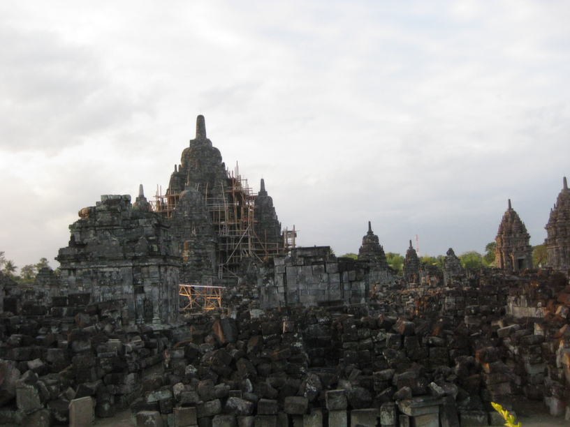 Restoration works at Prambanan