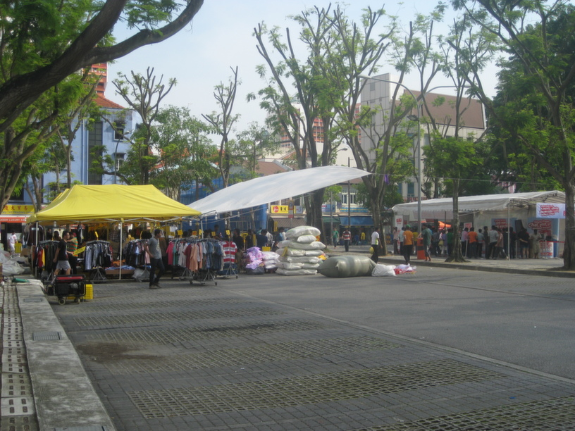 Small number of foreign workers gathered in Little India, though mainly from Bangladesh