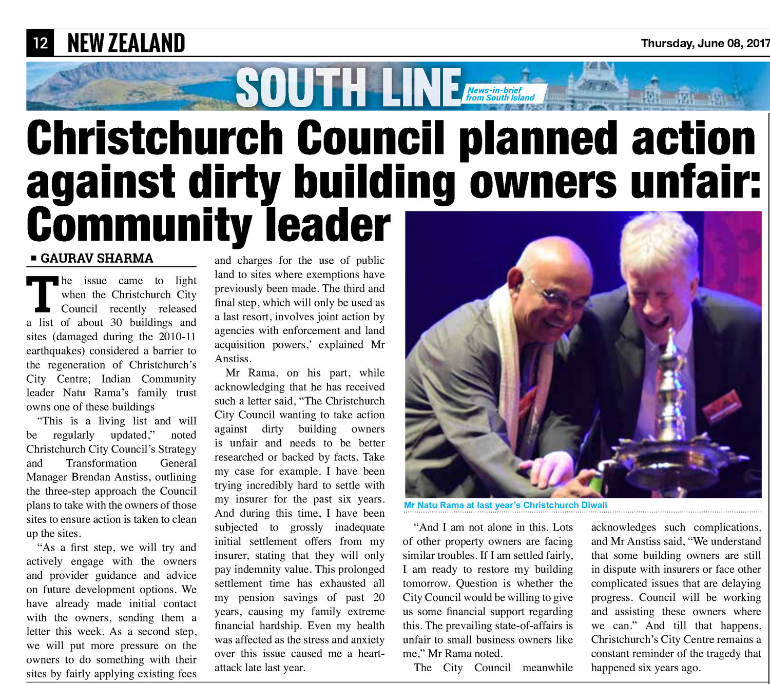 Christchurch Council planned action against dirty building
