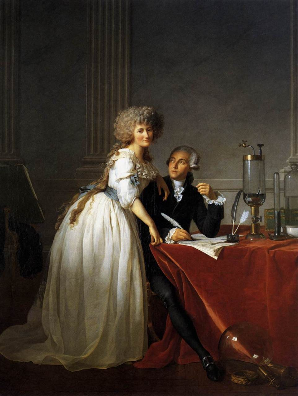 Jacques-Louis   David       Portrait of Antoine-Laurent and Marie-Anne Lavoisier        1788
