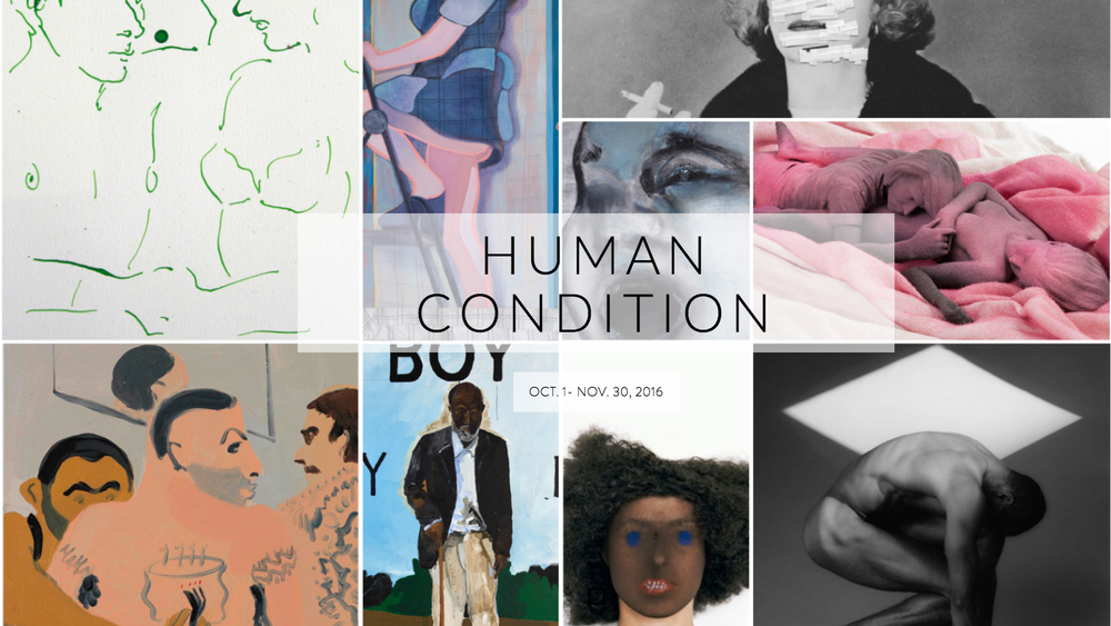 HUMAN CONDITION Curated by John Wolf The Hospital 2231 S Western Ave, Los Angeles Opening Reception: October 1, 2016 October 1 – November 30, 2016   www.humanconditionexhibition.com   Daniel Arsham, Louise Bonnet, Polly Borland, Delia Brown, Greg Colson, Zoe Crosher, Gregory Crewdson, Mira Dancy, Marlene Dumas, Celeste Dupuy-Spencer, Danny Fox, Nicole Eisenmann, Derek Fordjour, Louisa Gagliardi, Brendan Getz, Laurent Grasso, Heidi Hahn, Marc Horowitz, Ridley Howard, Leonhard Hurlmeier, Joshua Jefferson, Chantal Joffe, Jordan Kasey, Hoda Kashiha, Friedrich Kunath, Kelly Lamb, Tala Madani, Robert Mapplethorpe, Max Maslansky, Tony Matelli, Simon Mathers, John Millei, Marilyn Minter, Alice Neel, Laurie Nye, Jennifer Packer, Vernon Price, Tal R, Yves Scherer, Alexander Ruthner, Peter Stichbury, Claire Tabouret, Johan Tahon, Mateo Tannatt, Kenneth Tam, Henry Taylor, Ed Templeton, Mark Verabioff, Jessica Williams, Nicole Wittenberg, Bradley Wood     Human Condition is comprised of emerging and established artists from Los Angeles, New York, and Europe within an unusual context – an abandoned hospital (previously the LA Metropolitan Medical Center) in the bourgeoning West Adams district on the border of South Los Angeles. Home to many working artists, this exhibition, curated by John Wolf, strives to bring attention back to this culturally and historically rich area of Los Angeles. Once considered Los Angeles' affluent neighborhood at the turn of the 20th century, its decay over the years due to the development of the 10 freeway, Hancock Park, Hollywood, and Beverly Hills, has recently made an upward turn with an increasing interest in redeveloping the area and a commitment to supporting the local art scene.   Human Condition will bring awareness to an underrepresented arts district on the brink of change. Using the community as a backdrop, the spaces functional history serves as the thread that binds the transient force of the human condition on the physical plane in this otherwise under-served area.  Human Condition invites artists to explore emotional responses to the physical and psychological experience of an individual in its lifespan. Themes of joy, pain, trauma, and elation are all experienced within the same shell, similar to the exhibition space itself. The reaction to these emotional responses by viewers weaves through the narrative.Working within the context of a hospital is both an architectural investigation and rediscovery of the abundant resources left in this fertile neighborhood. Similar to the human form, both have the opportunity for redevelopment and change.  The works chosen for Human Condition will be on display in various settings within the hospital.  Among the surgical rooms, maternity wards, psychiatric floor, cafeteria and foyer, artists will have the opportunity to work with the existing architecture, hospital furniture and the random remains of what has been left at the site. The works will range from sculpture, drawings, paintings, performance, and select immersive installations that draw inspiration from what once was enabling the viewer to transcend and draw a subjective narrative from the unsettling and dilapidated surroundings. The Human Condition is a unique opportunity for both artists and audiences to experience artwork outside of the confines of a white box and in a familiar yet strange platform.