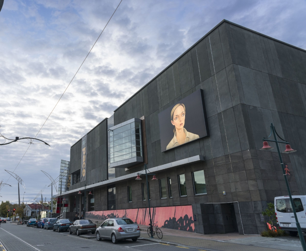 NDE ,2013 Illuminated Billboard,   Populate!  Curated by Justin Paton Christchurch Art Gallery, New Zealand