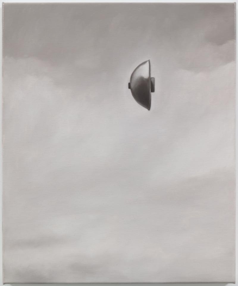 Balwyn, 1966 (Von Neumann Probe), 2014 Oil on linen 23.6 x 19.7 inches Photo: Jason Mandella