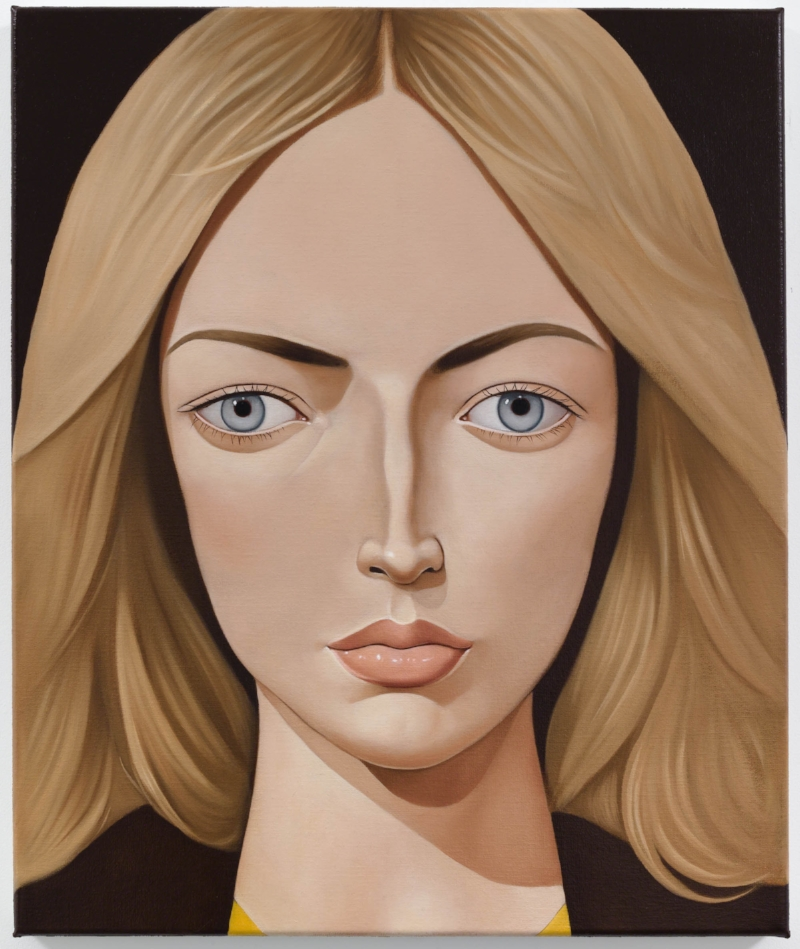 Mona Stafford, 1976, 2014 Oil on linen 23.6 x 19.7 inches Photo: Jason Mandella