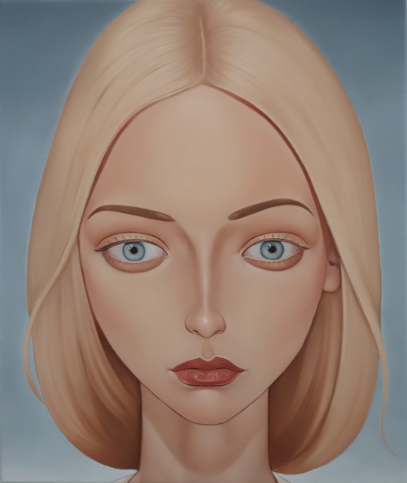 Glynda Nickerson, Dr John Mack session, 2017  Oil on linen 23.6 x 19.7 inches