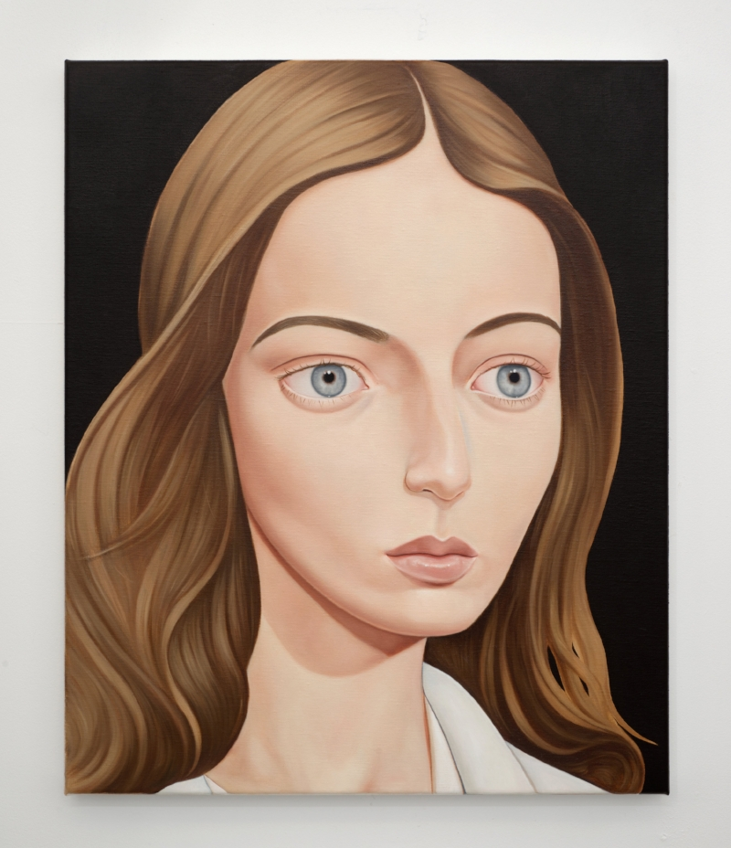 'Dr Mary Neal, NDE, 1999' 2018 Oil on linen 50 x 60 cm