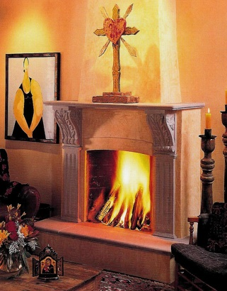 Fireplace designed by Susan Westbrook