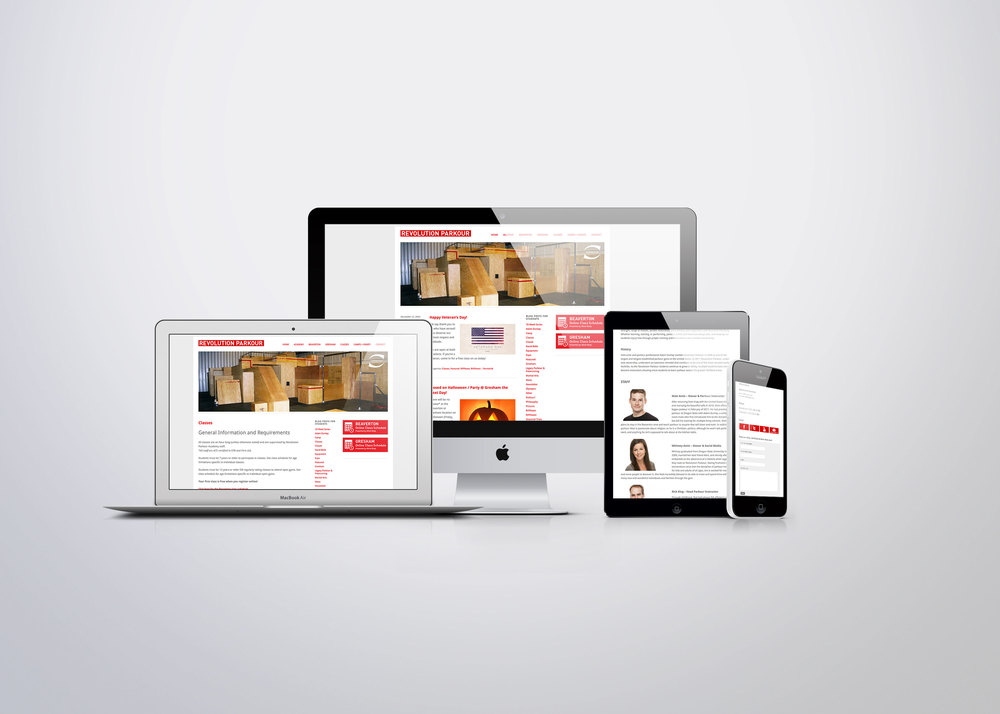 Responsive design was a must at the time of the site launch. Even though it was a newer technology, it greatly enabled Revolution to connect with a whole new market. Revolution could now be cleanly accessible on the devices most often used by parents and students.