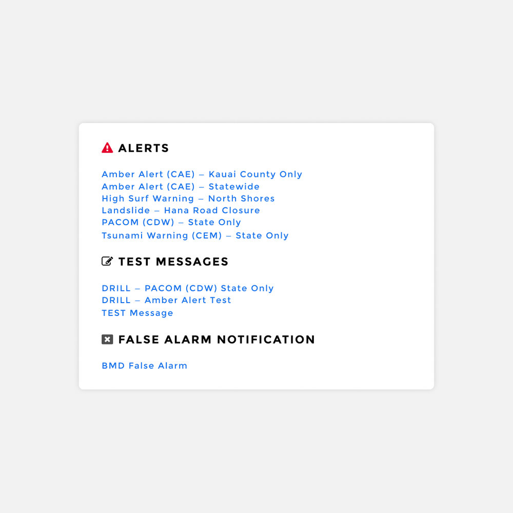 With a simple visual hierarchy to separate the actual alerts and give the important ones prominence while not losing the demo alerts and false alarm notifications.