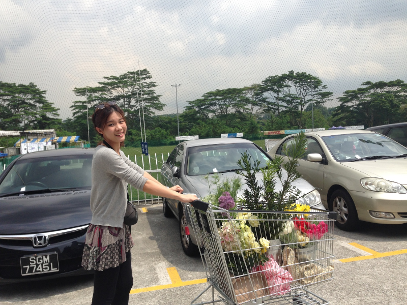 This is Heather, with a trolley full of flowers