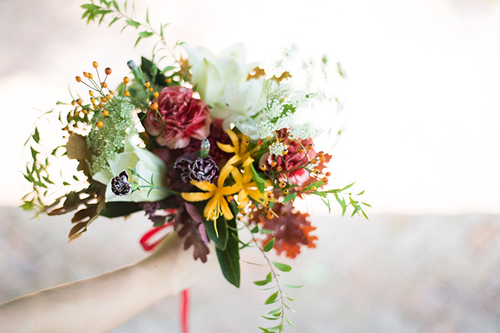 Shanty's hand bouquet.