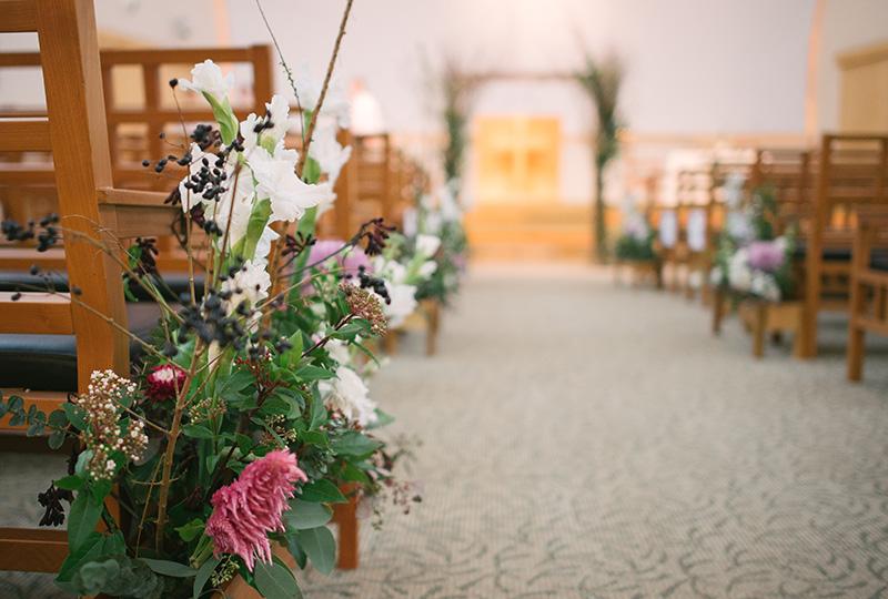 Joanna + Caleb's church wedding.