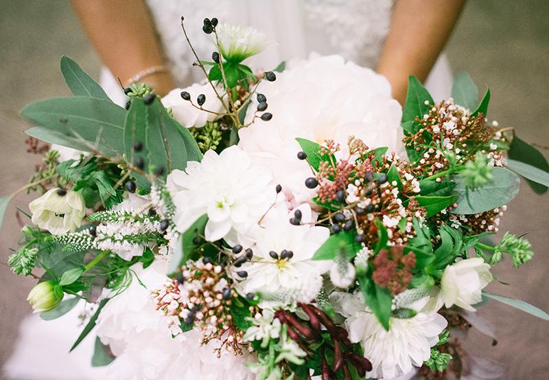 Joanna's bridal bouquet.