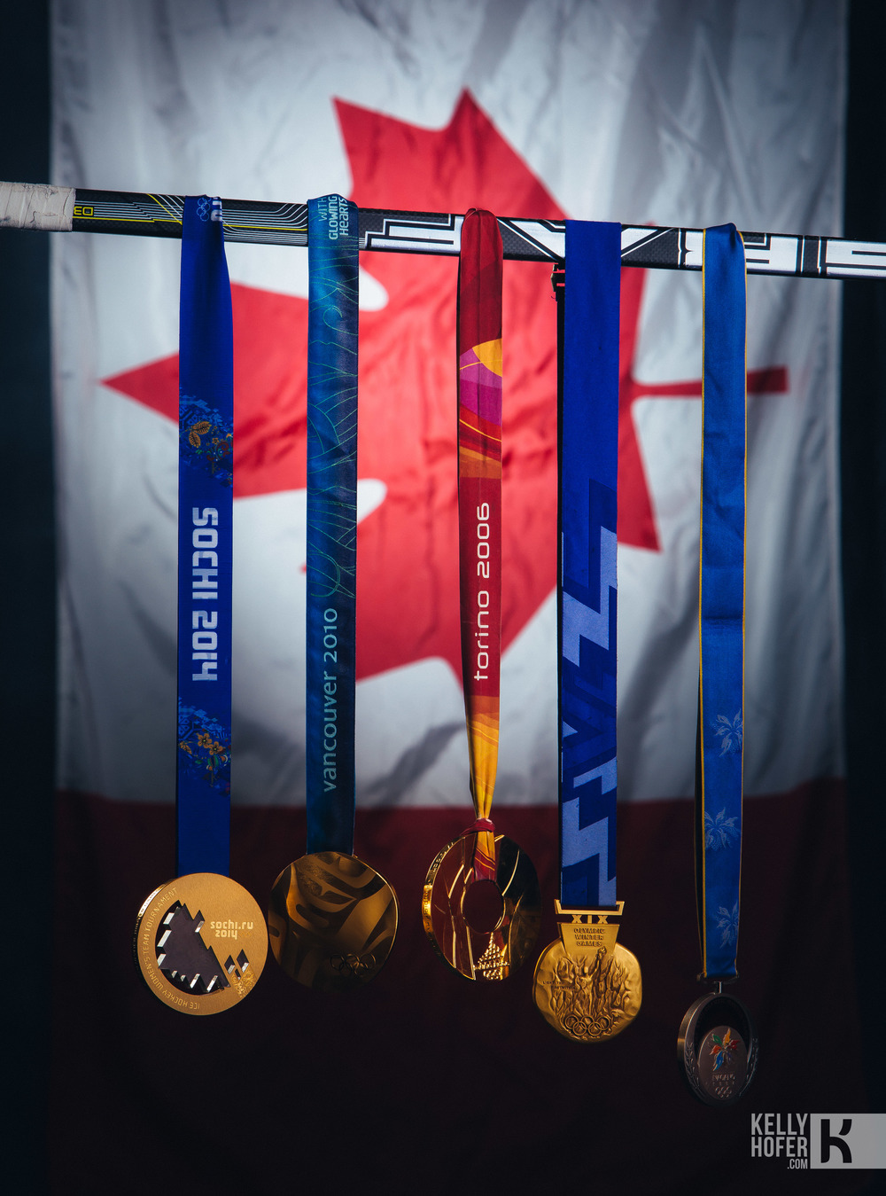The gold Medals of Jayna Hefford: Image copyright: Hockeycanada.ca