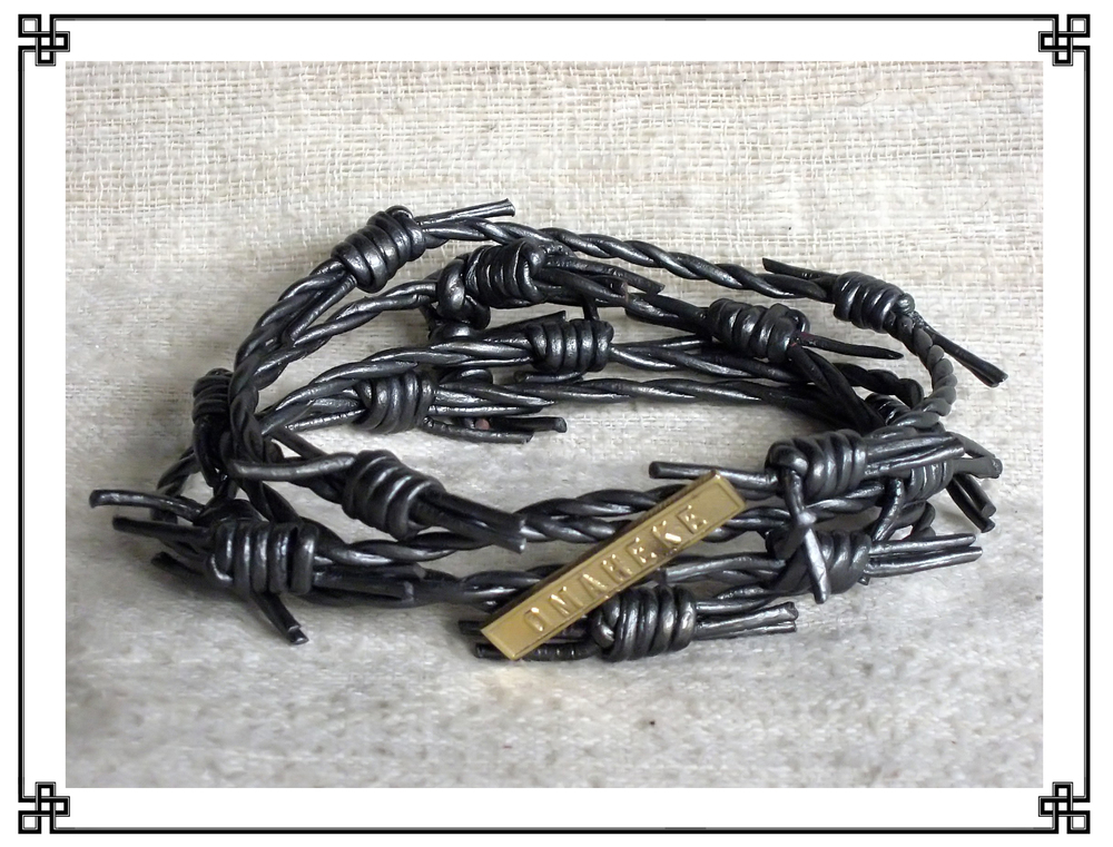 "Crafted from ersatz barbed wire joined to campaign medal bars appropriated off Schutztruppe {colonial Protective Force} combatants, bracelets in this genre -- many specimens are known to exist, the more common bearing inscriptions like ""Hereroland"", ""Gross-Namaland"" and ""Kalahari 1908"" -- are commonly misidentified as apotropaic fetishes worn by the indigenous peoples of Deutsch Süd-West-Afrika {German Southwest Africa} to ward off incursions by Mitteleuropean settlers. But the fact that these bracelets are found predominantly on the opposite side of the sandveld, in Great Britain's adjacent Bechuanaland Protectorate, suggests instead their wear ex post facto by the rare surviving indigenous refugees from said incursions. Thus, such bracelets are more correctly classified as Wilhelmite mourning jewelry.     Normal   0           false   false   false     EN-US   X-NONE   X-NONE                                                                                                                                                                                                                                                                                                                                                                          /* Style Definitions */  table.MsoNormalTable 	{mso-style-name:""Table Normal""; 	mso-tstyle-rowband-size:0; 	mso-tstyle-colband-size:0; 	mso-style-noshow:yes; 	mso-style-priority:99; 	mso-style-qformat:yes; 	mso-style-parent:""""; 	mso-padding-alt:0in 5.4pt 0in 5.4pt; 	mso-para-margin-top:0in; 	mso-para-margin-right:0in; 	mso-para-margin-bottom:10.0pt; 	mso-para-margin-left:0in; 	line-height:115%; 	mso-pagination:widow-orphan; 	font-size:11.0pt; 	font-family:""Calibri"",""sans-serif""; 	mso-ascii-font-family:Calibri; 	mso-ascii-theme-font:minor-latin; 	mso-fareast-font-family:""Times New Roman""; 	mso-fareast-theme-font:minor-fareast; 	mso-hansi-font-family:Calibri; 	mso-hansi-theme-font:minor-latin; 	mso-bidi-font-family:""Times New Roman""; 	mso-bidi-theme-font:minor-bidi;}"
