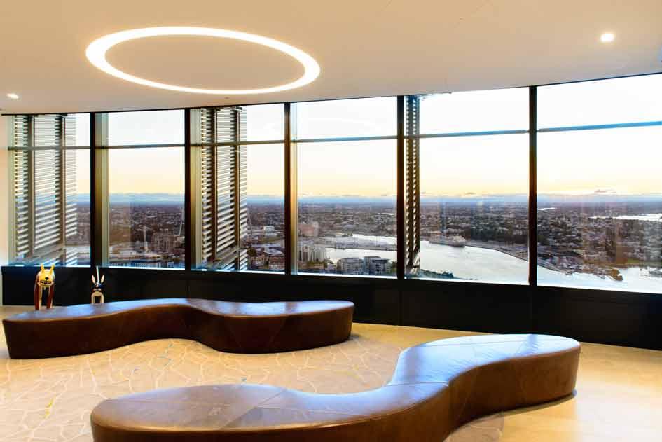 Raffaele De Vita Lighting. Gilbert + Tobin. Barangaroo International Towers. Sydney.