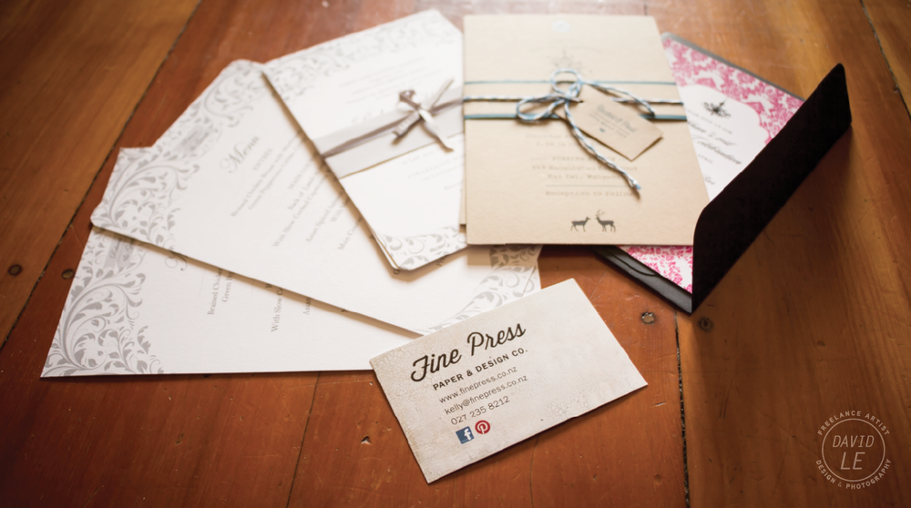 Get in touch with Kelly from Fine Press for all your wedding stationery needs!