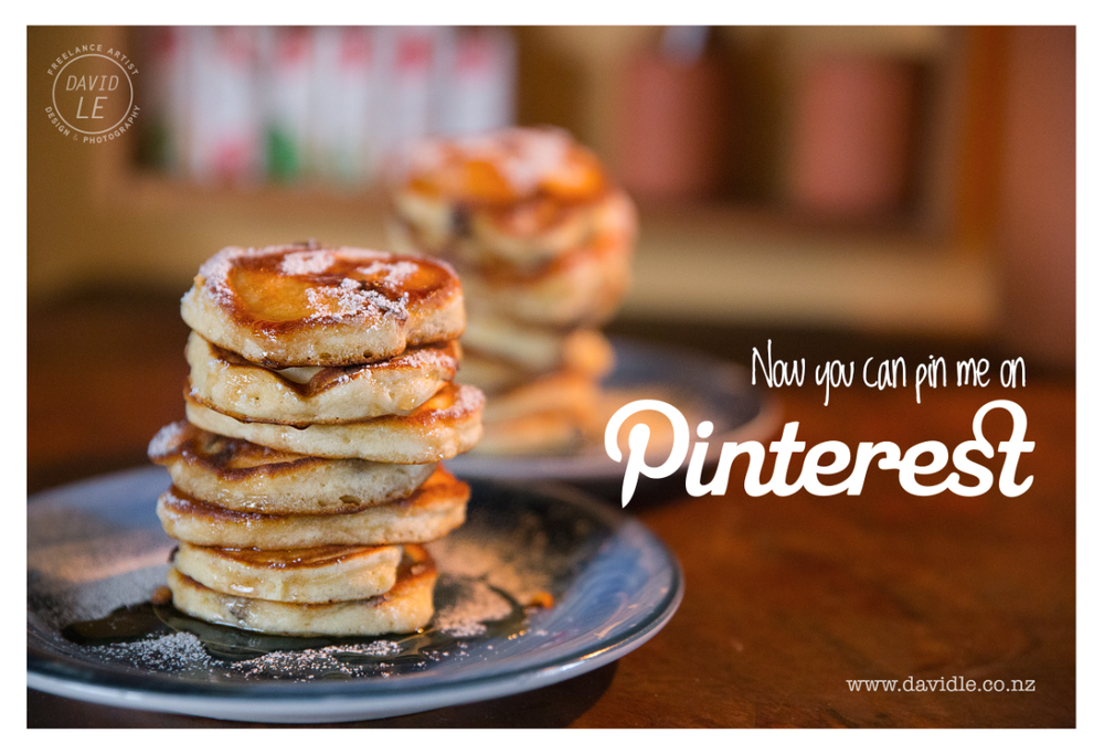 You can now pin me on Pinterest! Mmm Pancakes...