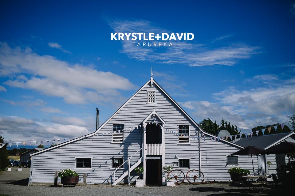 Krystle + David's wedding held at the awesome Tarureka Estate!