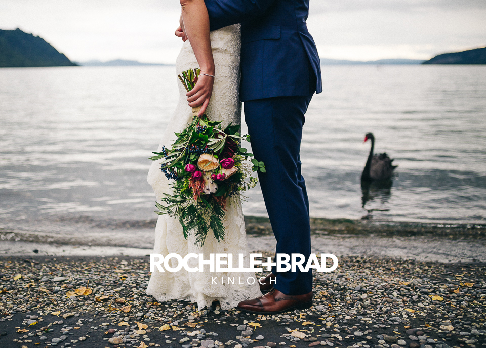 Rochelle + Brad's intimate wedding in Kinloch.