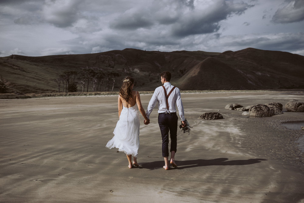 Cliff top elopement
