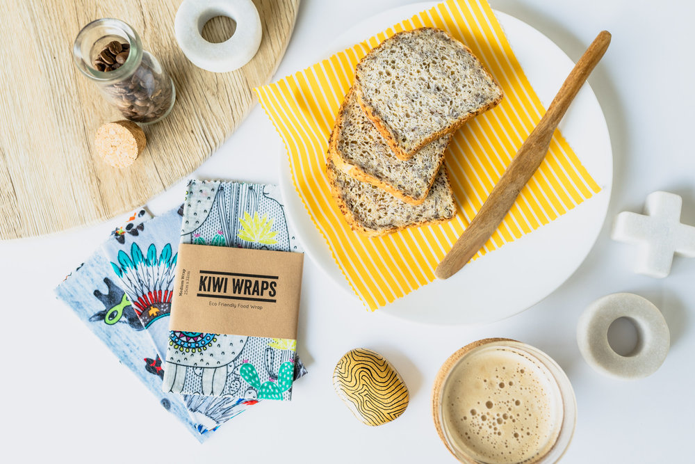 Kiwi Wraps // Eco Friendly Food Wrap