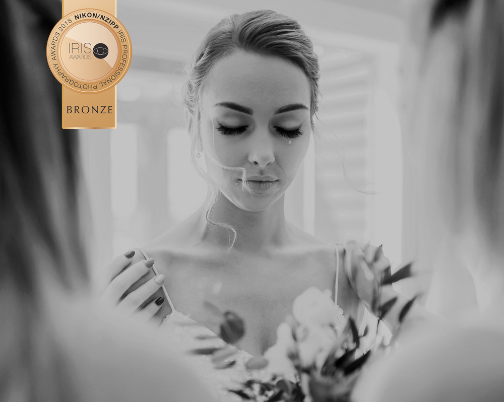 This shot from Leonie's wedding was award Bronze at the recent IRIS awards