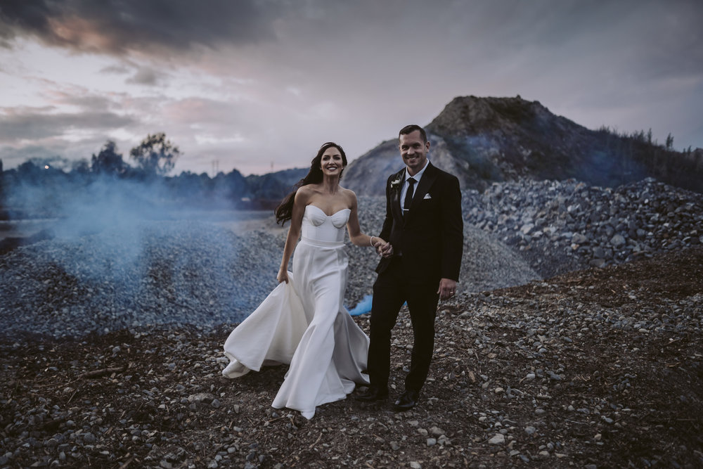 Polly + Rhys, looking bloody stunning!