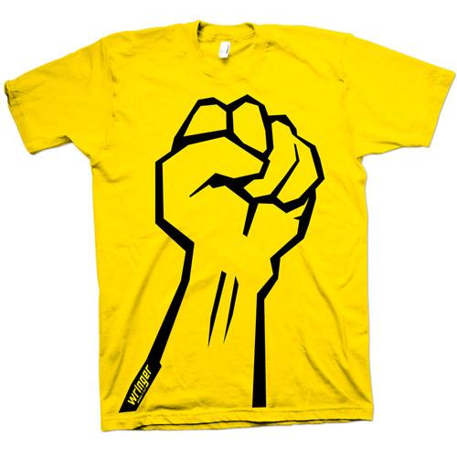 Fist t-shirt - yellow — Wringer