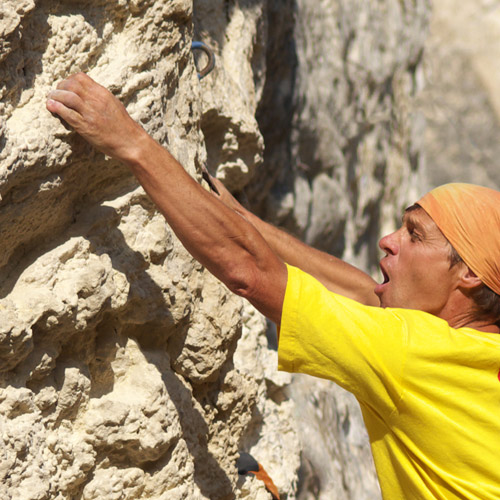 ROCK CLIMBING - Grip strength and stamina is a must.