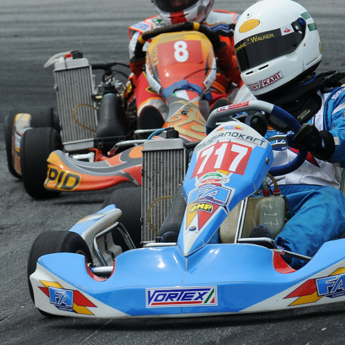 KARTING - Avoid forearm fatigue.