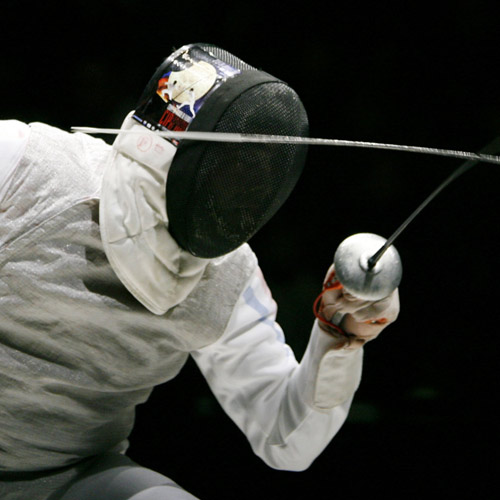 FENCING - Fast and accurate sword movement needs strong wrists.