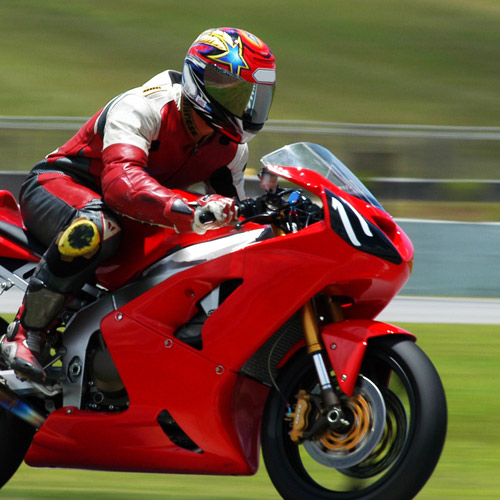 SUPERBIKES - At speed you need strength and control.