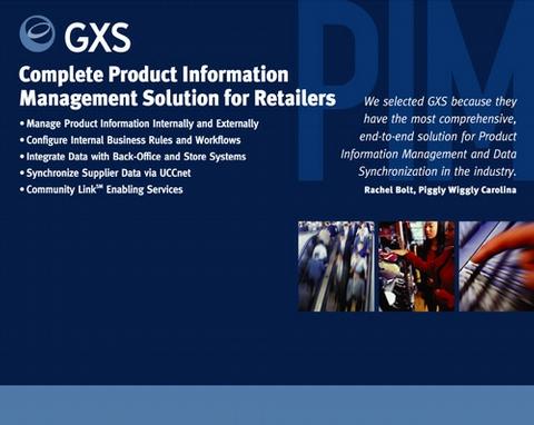 GXS PIM Tradeshow Booth