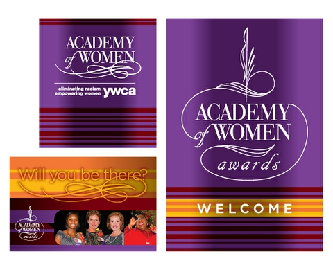 Academy of Women Awards Signage & Promotion