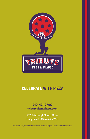 Tribute Pizza Place Menu