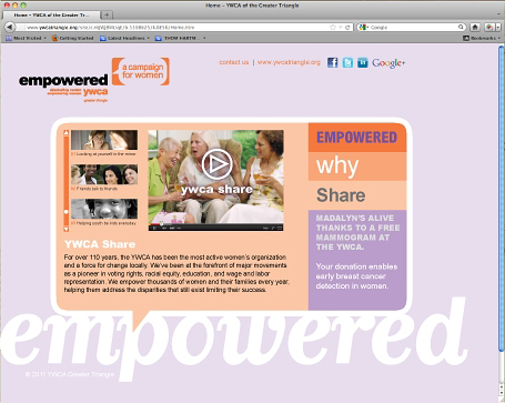 YWCA GT Campaign for Women Initiative Website
