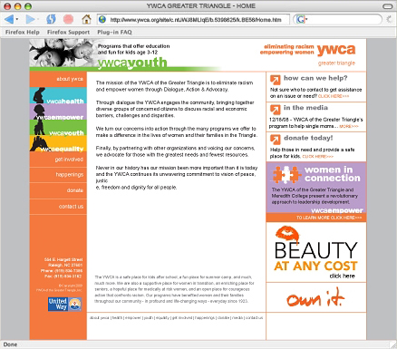 YWCA GT Website