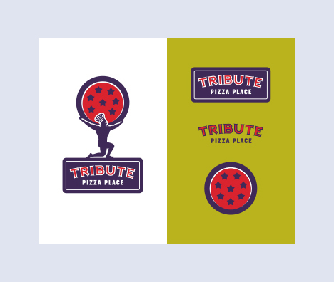 Tribute Pizza Place Logo