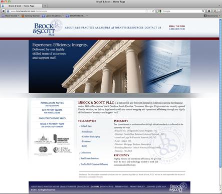 Brock & Scott Website Homepage