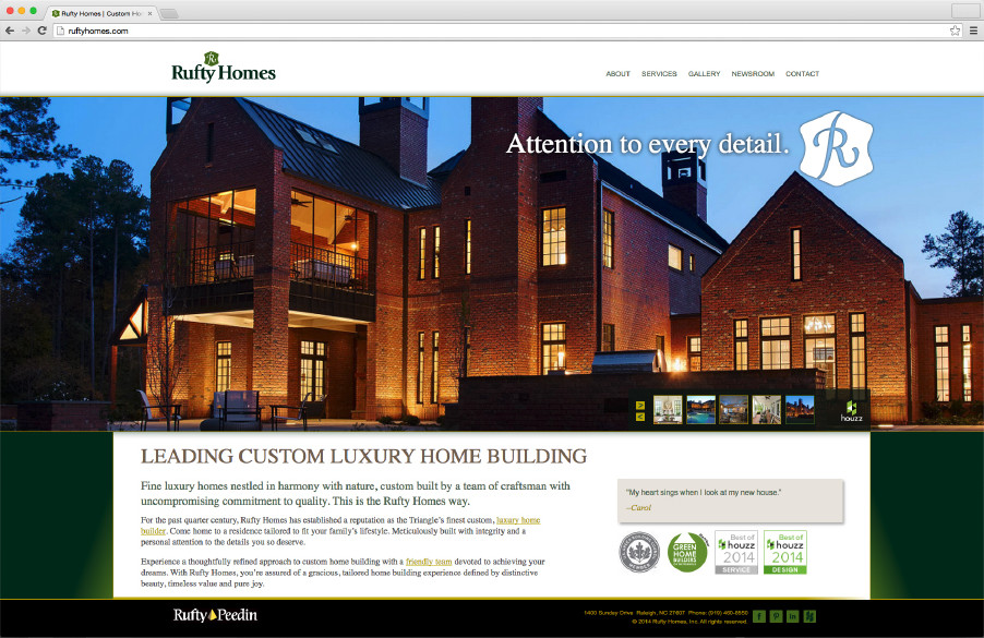 Rufty Homes website