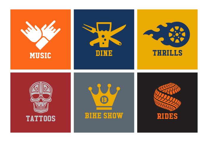 Capital City Bikefest Icons